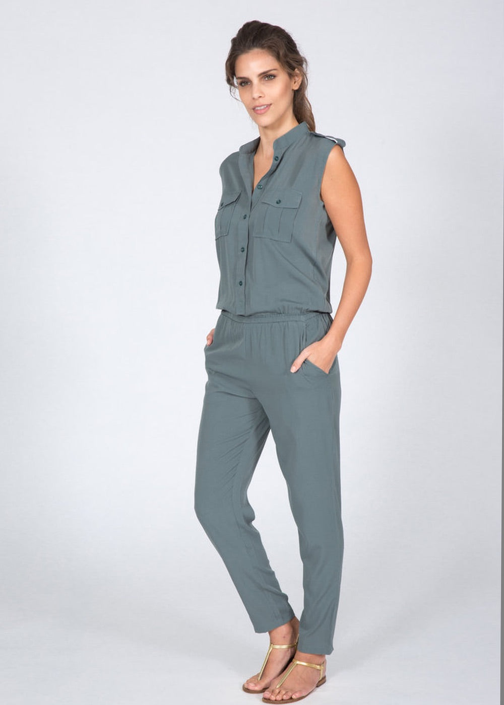 grey jumpsuit army