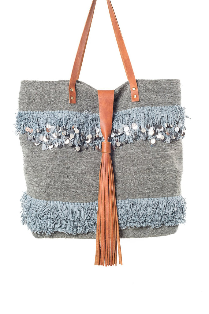 Annie Grey Velvet Tote Bag Virginie Darling - Tote Bag Virginie Darling
