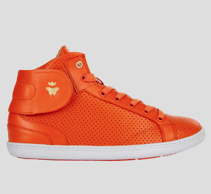 barons papillom orange sneakers punched