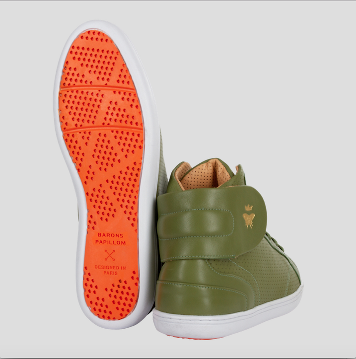 high top sneakers barons papillom olive