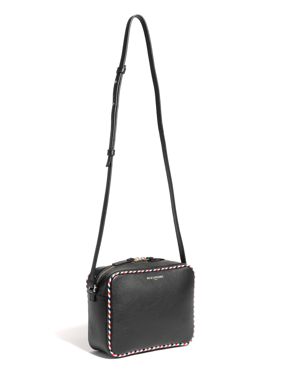 black leather crossbody bag ines de la fressange bags online