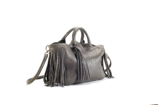 Baby Darling Kaki Leather Handbag Virginie Darling - Handbag Virginie Darling