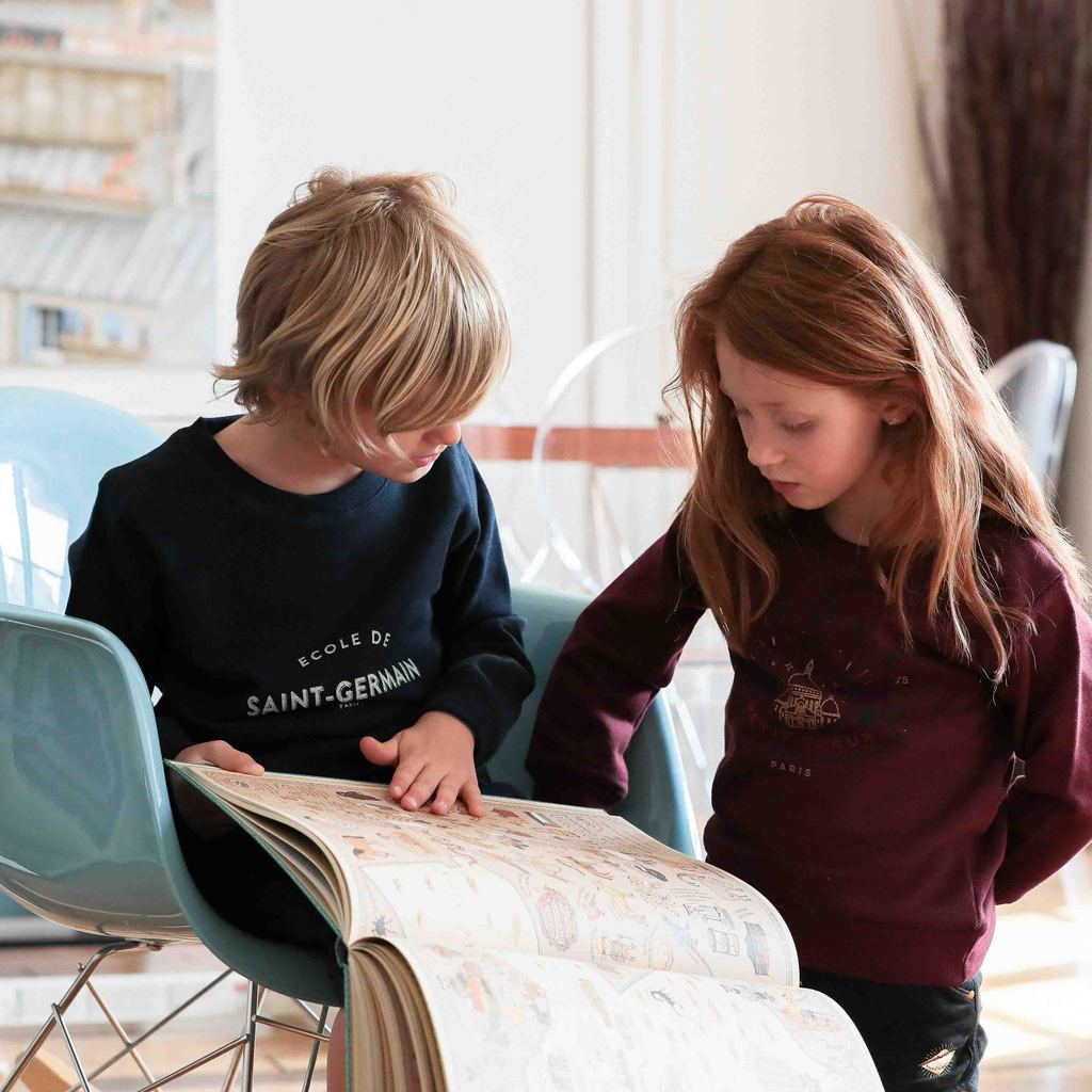 Le petit Germain Navy Sweater, Chat-Malo Paris, My Parisiennes