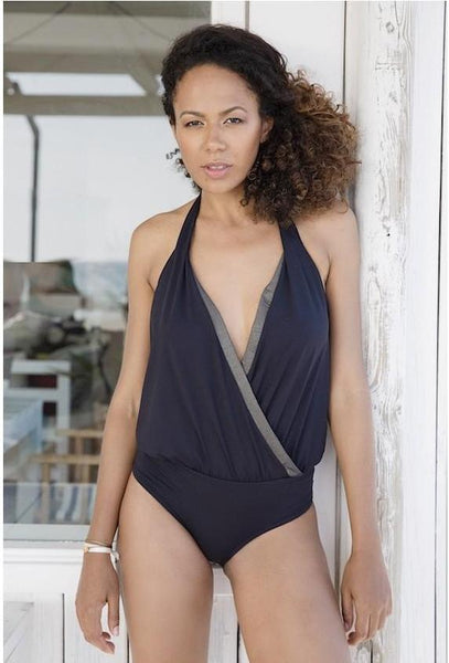 Maya One The Black Swimsuit Maison Jeanne - Swimsuit Maison Jeanne