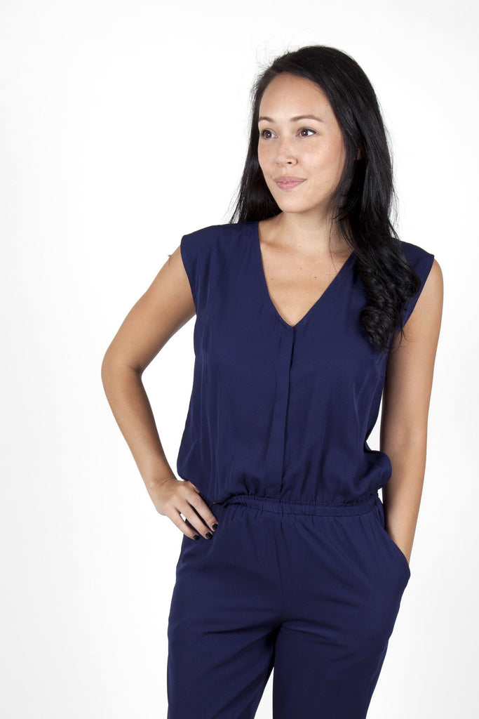 dressy jumpsuits navy blue