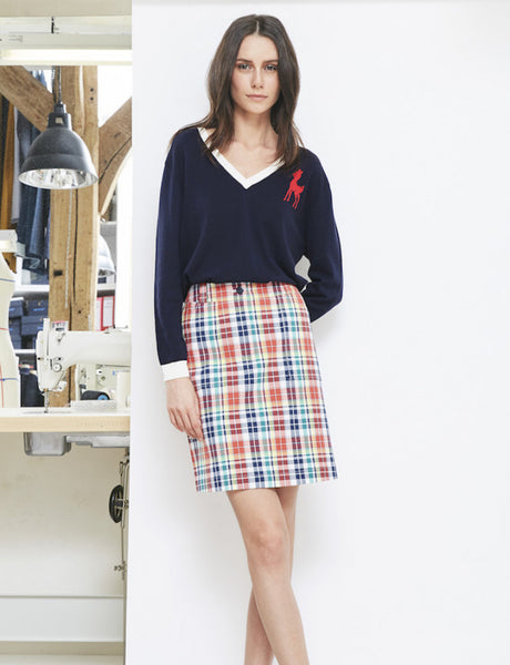 Navy sweater Massimo - Ines de la Fressange Paris