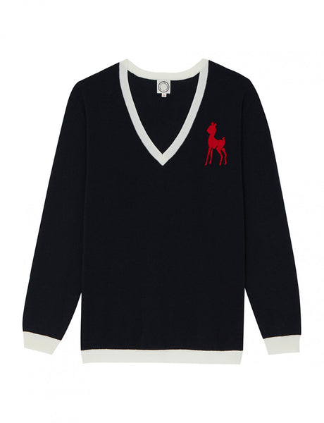 French elegance - navy jumper - Ines de la Fressange Paris