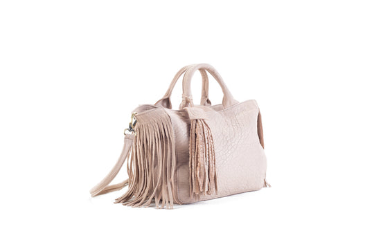 Baby Darling Nude Leather Handbag Virginie Darling - Handbag Virginie Darling