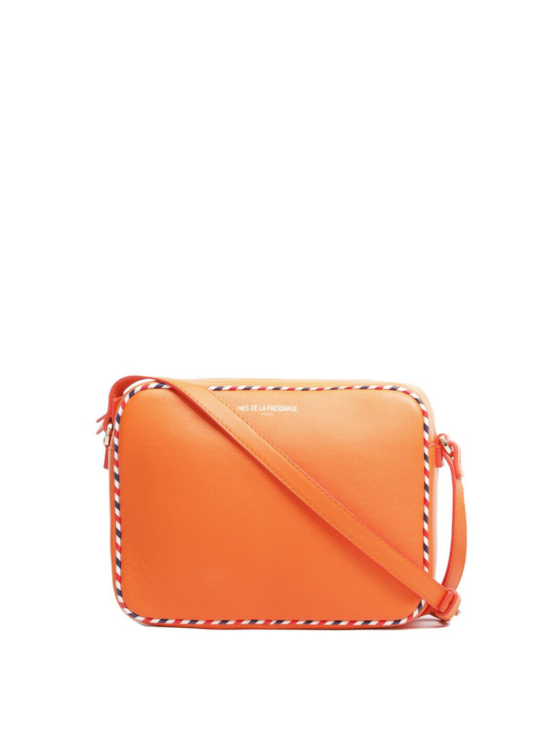 orange crossbody bag ines de la fressange bags online