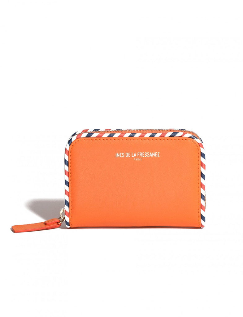 orange womens wallet Ines de la Fressange