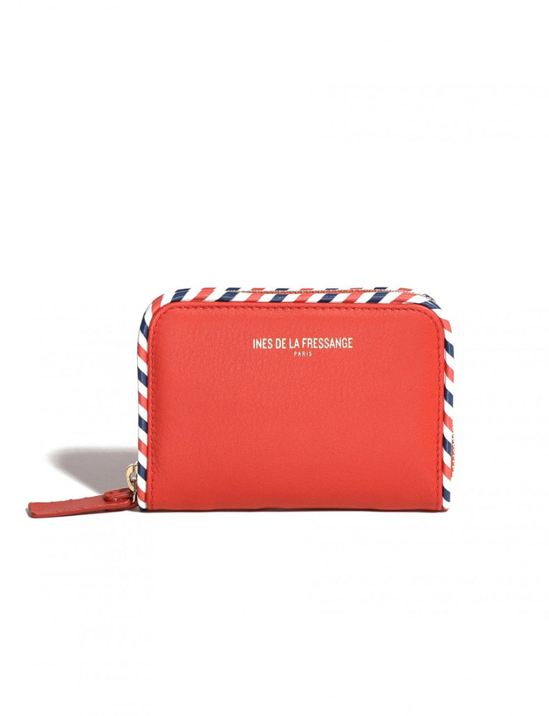 red womens wallet Ines de la Fressange