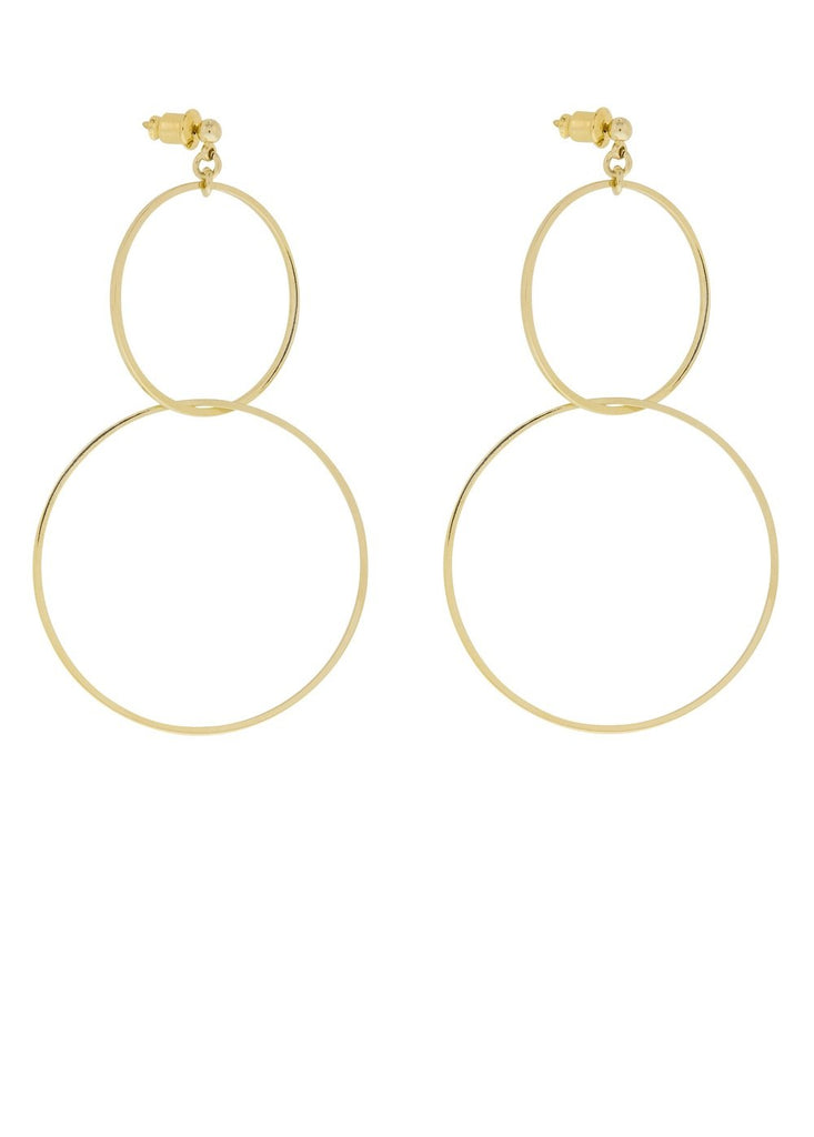 Ring Gold Double Circles Earrings Lesprit Parisien - Earrings Lesprit Parisien