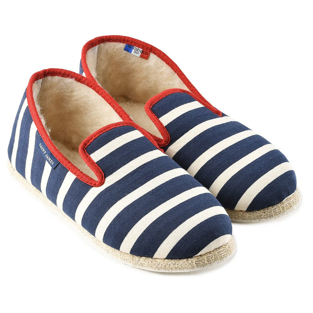 stripe slippers saint james