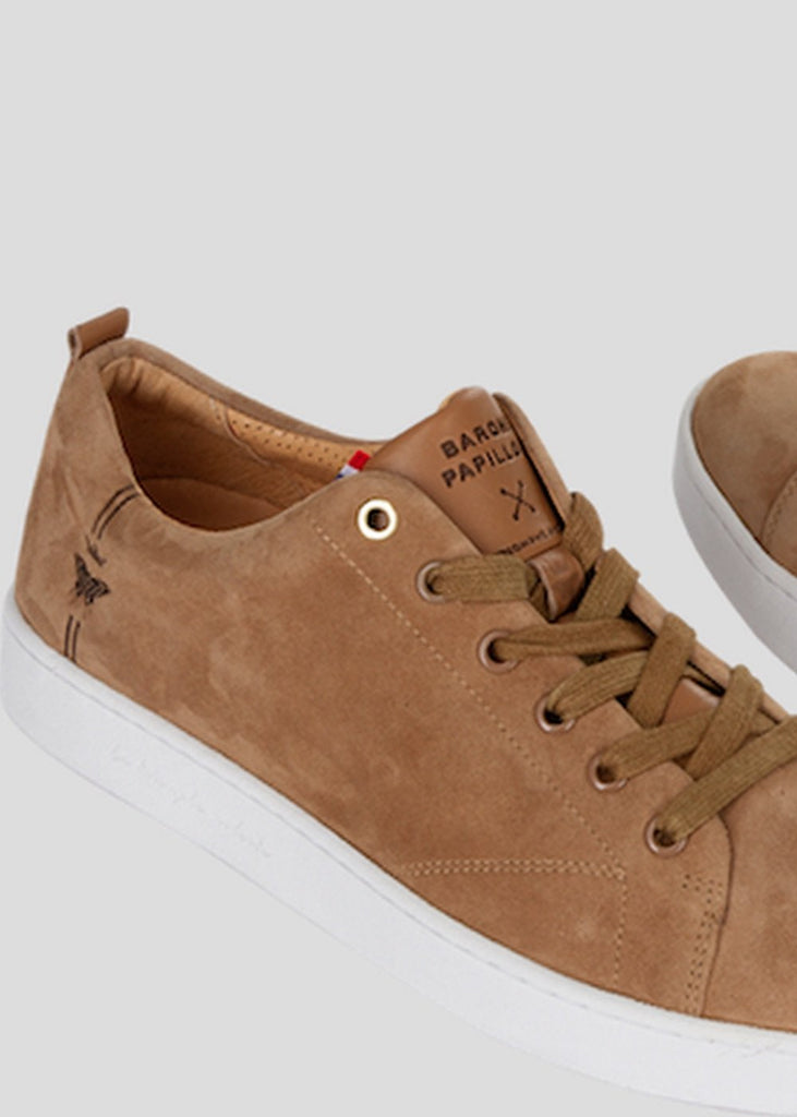 suede camel sneaker barons papillom