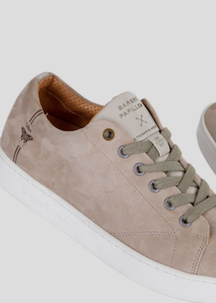 suede grey sneakers barons papillom