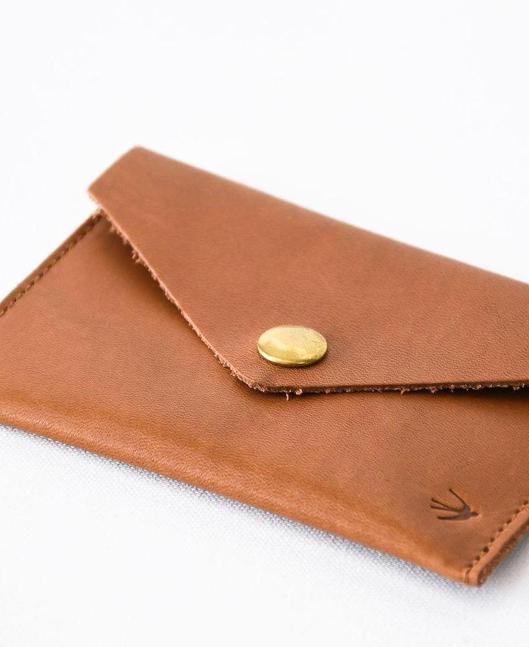 Suzanne Camel Leather Cardholder Maison Jeanne - Cardholder Maison Jeanne