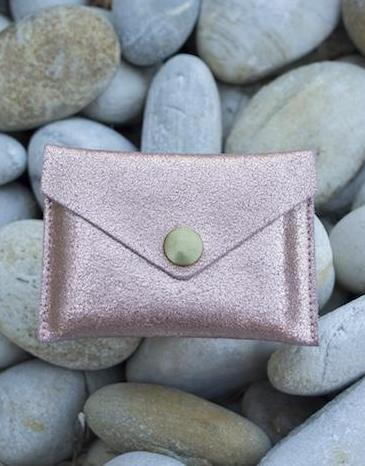 Suzanne Copper Leather Cardholder Maison Jeanne - Cardholder