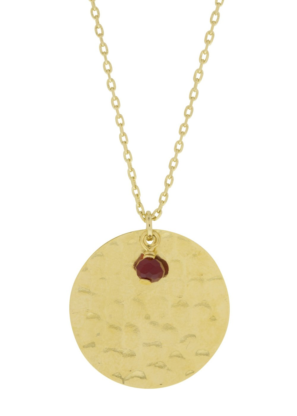 Talisman Red Crystal Necklace Lesprit Parisien - Necklace Lesprit Parisien