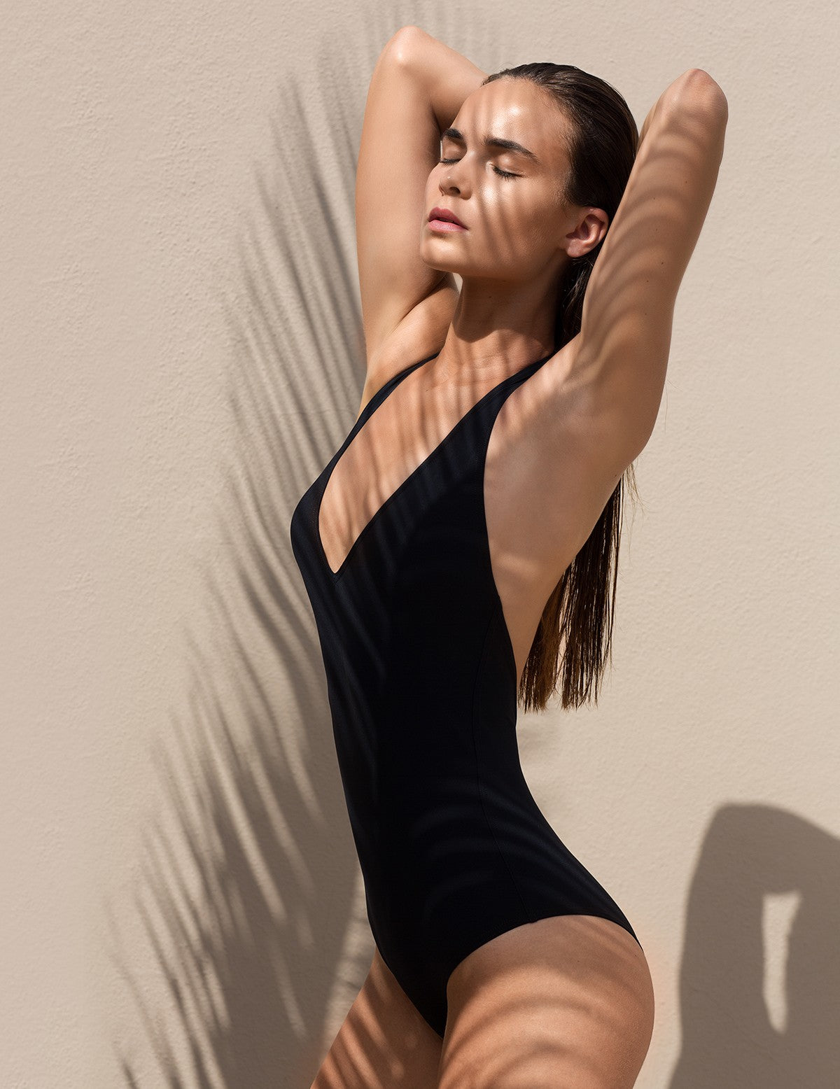 The Black Backless Swimsuit Statice - Swimsuit Statice
