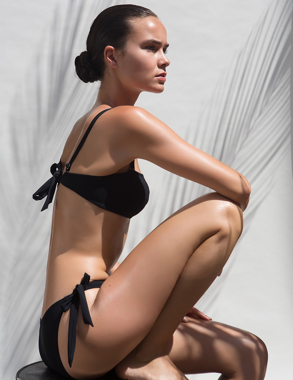 The Black Bandeau Bikini Statice