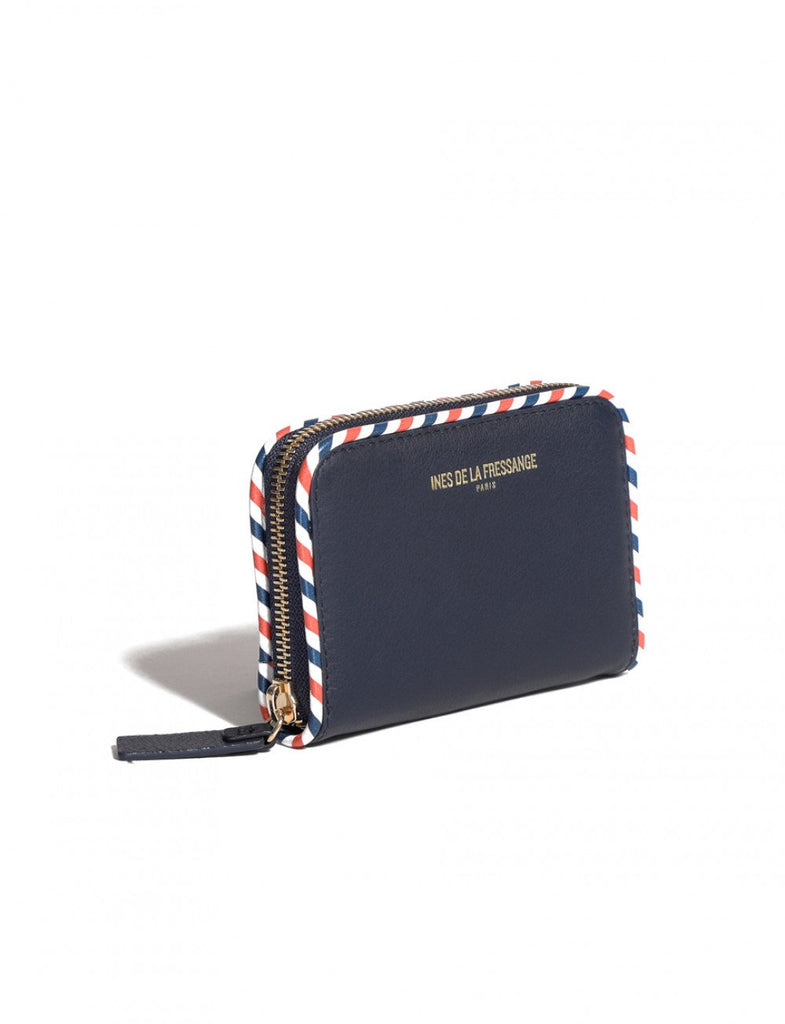wallet for womens navy Ines de la Fressange