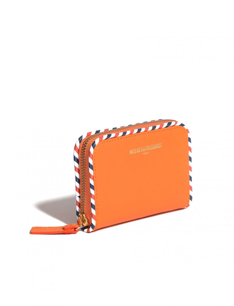 wallet for womens orange Ines de la Fressange