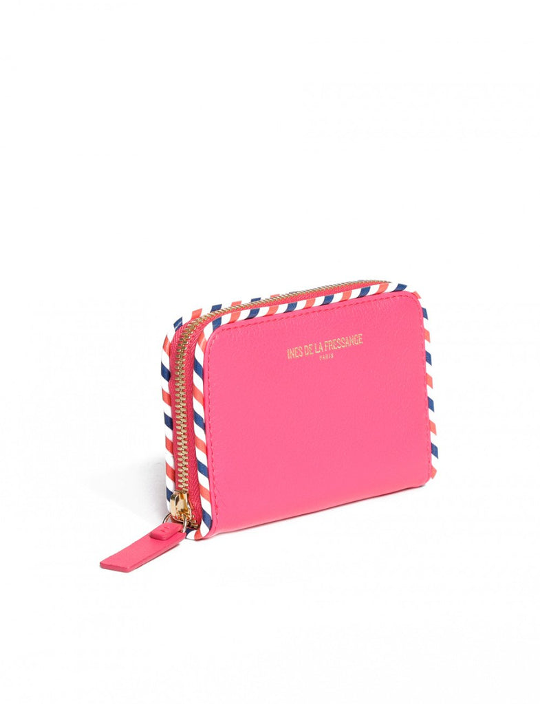 wallet for womens pink Ines de la Fressange