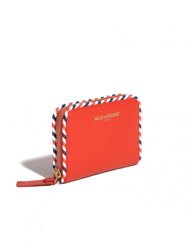 wallet for womens red Ines de la Fressange