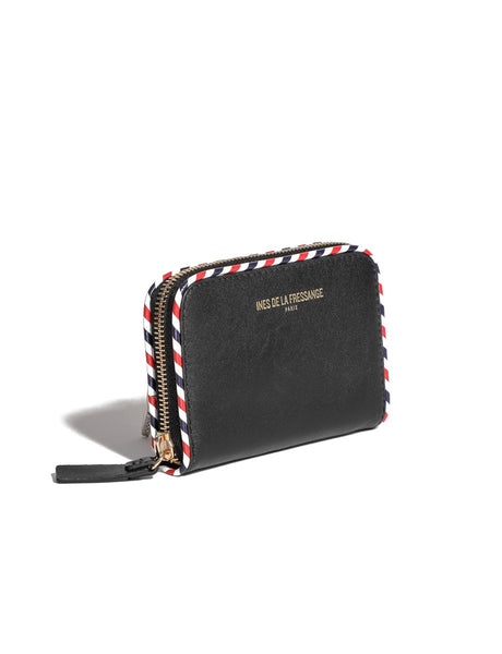 wallet for womens black Ines de la Fressange