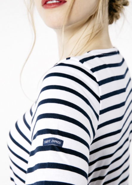 womens striped top saint james navy white