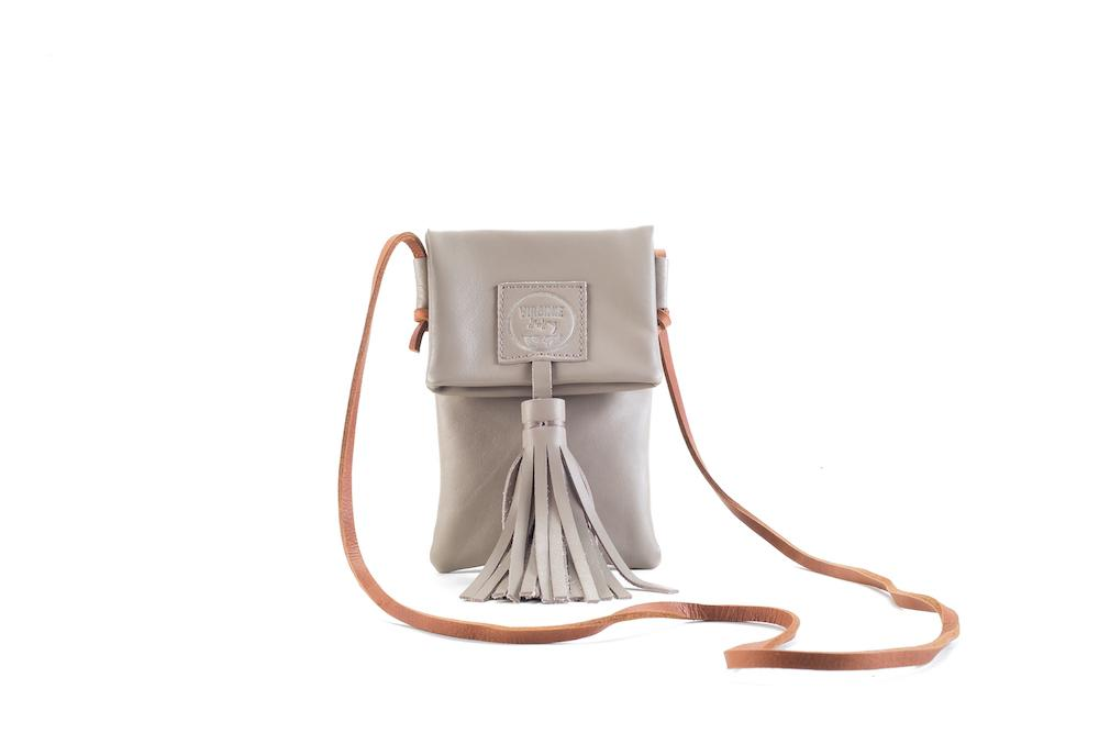 Zia Mystic Beige Leather Bag Virginie Darling - Handbag Virginie Darling