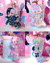 Load image into Gallery viewer, Yume Cuties Keychains Holographic 8cm