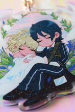 Load image into Gallery viewer, FFXV Luna Noctis Glitter Acrylic Charm 2.75in/7cm