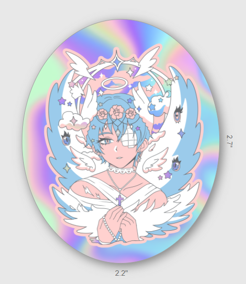Angelic Embrace Sticker