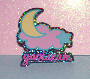 Yaoiscum Cloud Glitter Sticker