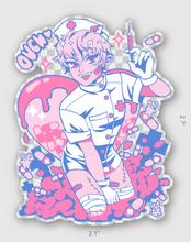 Load image into Gallery viewer, Ouch! Nurse Clear Sticker