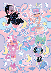 Yume Cuties Sticker Sheet A5