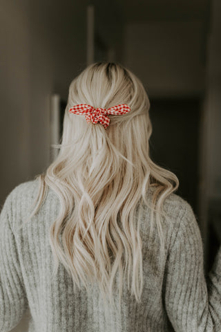 Dorothy red knot scrunchie - Copper Lake