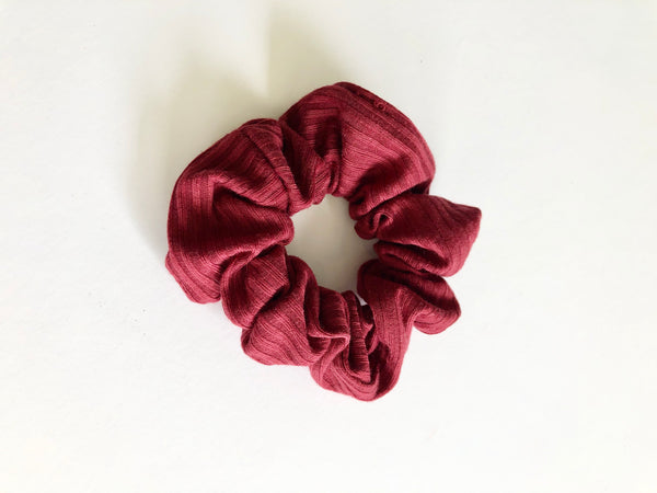 Mary wine ribbed scrunchie - Copper Lake