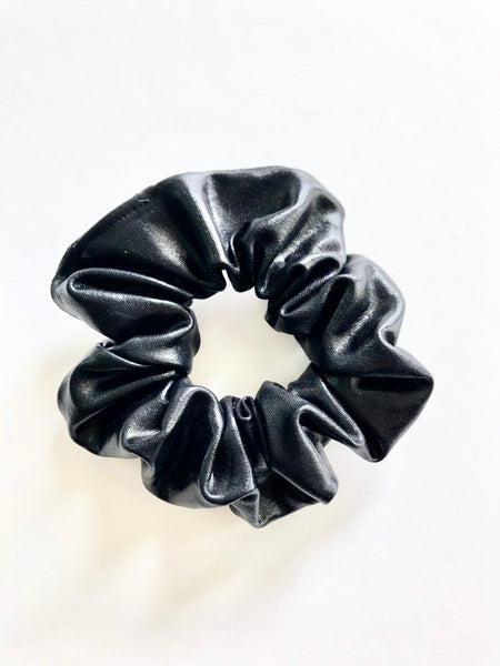 Demi faux leather scrunchie - Copper Lake