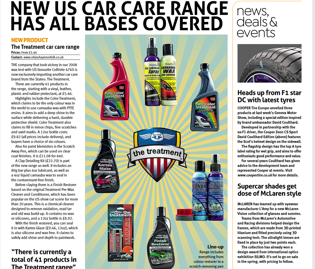 Auto Express News Bulletin for 'The Treatment' Car Products