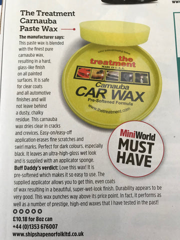 Mini World Review of Carnauba Paste Wax