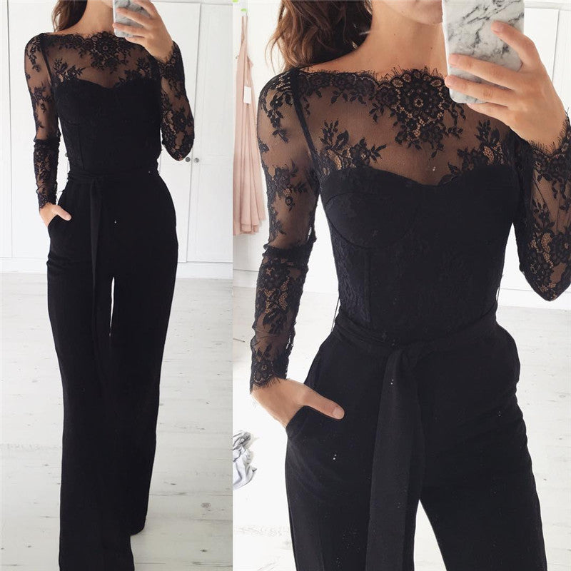Elegant Long Lace Jumpsuit