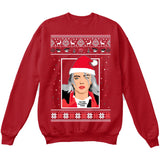 I'm The Naughty One | Billie Eilish | Ugly Christmas Sweater [Unisex Crewneck Sweatshirt]-Crewneck Sweater (Unisex)-Red-Small-Over The Boardwalk Shirts