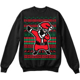 DABBING SANTA | Dabbing Santa Claus | Ugly Christmas Sweater [Unisex Crewneck Sweatshirt]-Crewneck Sweater (Unisex)-Black-Small-Over The Boardwalk Shirts
