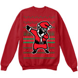DABBING SANTA | Dabbing Santa Claus | Ugly Christmas Sweater [Unisex Crewneck Sweatshirt]-Crewneck Sweater (Unisex)-Red-Small-Over The Boardwalk Shirts