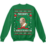 Merry Chrithmith | Mike Tyson | Ugly Christmas Sweater [Unisex Crewneck Sweatshirt]-Crewneck Sweater (Unisex)-Green-Small-Over The Boardwalk Shirts