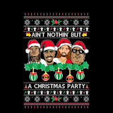 Rappers Rap Legends | Ain't Nothin But A Christmas Party | Tupac Biggie | Ugly Christmas Sweater [Unisex Crewneck Sweatshirt]-Over The Boardwalk Shirts