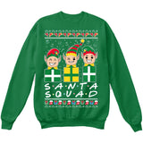 SANTA SQUAD | Elves Friends Logo | Ugly Christmas Sweater [Unisex Crewneck Sweatshirt]-Crewneck Sweater (Unisex)-Green-Small-Over The Boardwalk Shirts