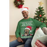 Twas the Nizzle Before Chrismizzle and all Through the Hizzle | Snoop Dog | Ugly Christmas Sweater [Unisex Crewneck Sweatshirt]-Over The Boardwalk Shirts